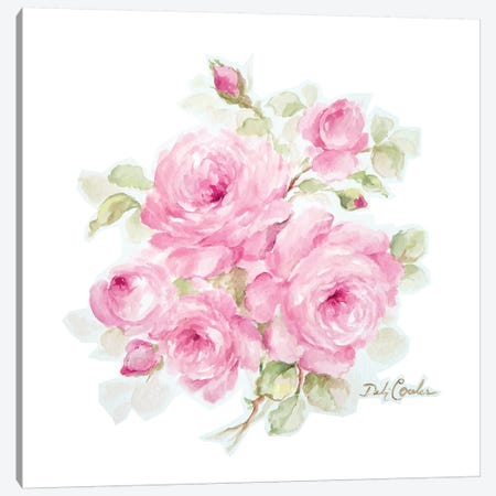Romantic Roses Canvas Print #DEB151} by Debi Coules Canvas Wall Art