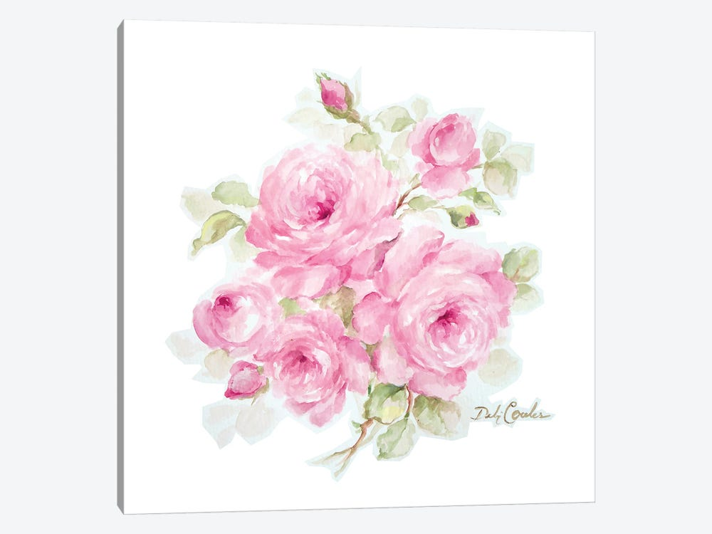 Romantic Roses by Debi Coules 1-piece Canvas Art
