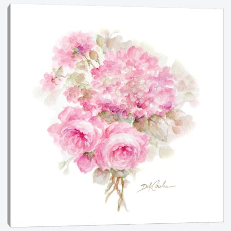 Roses and Hydrangeas I Canvas Print #DEB152} by Debi Coules Canvas Wall Art