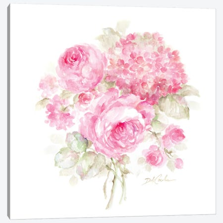 Roses and Hydrangeas II Canvas Print #DEB153} by Debi Coules Canvas Art