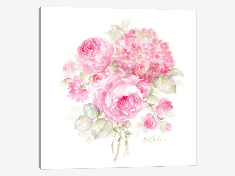 Roses and Hydrangeas II by Debi Coules 1-piece Canvas Wall Art
