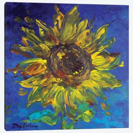 Sunflower I Canvas Print #DEB155} by Debi Coules Canvas Print