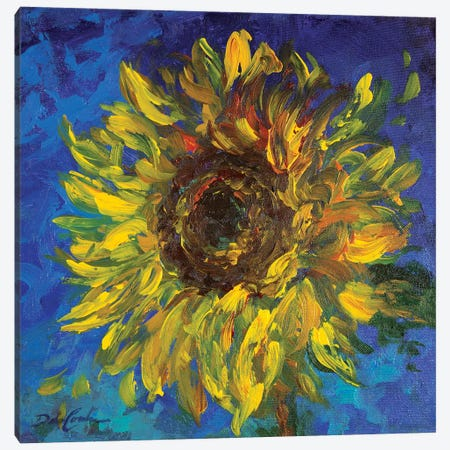 Sunflower II Canvas Print #DEB156} by Debi Coules Art Print