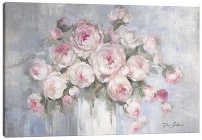 Peonies in White Vase Canvas Art Print