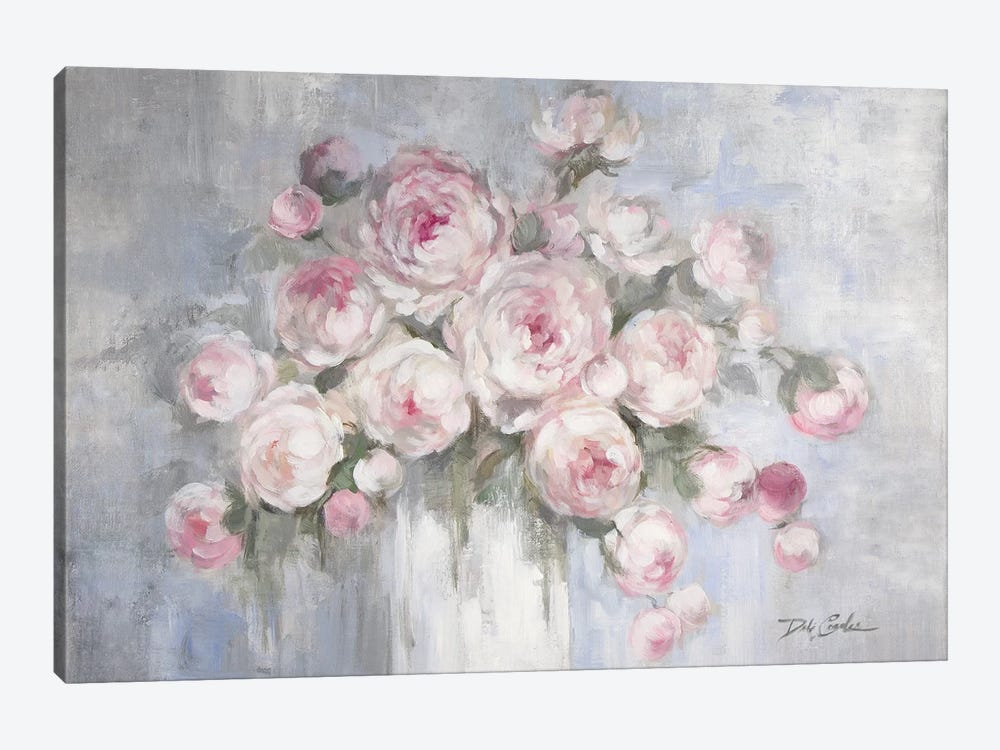 Peonies in White Vase by Debi Coules 1-piece Art Print