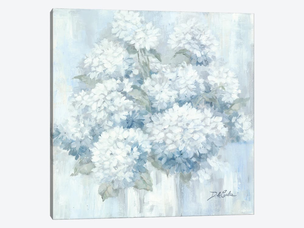 White Hydrangeas by Debi Coules 1-piece Canvas Art