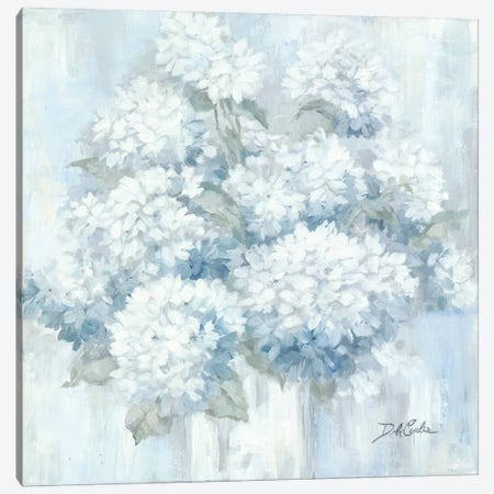 White Hydrangeas Canvas Print #DEB166} by Debi Coules Canvas Artwork