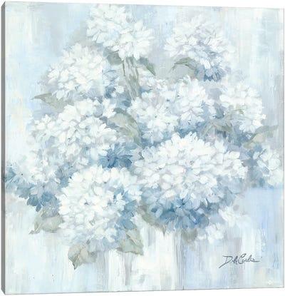 White Hydrangeas Canvas Art Print