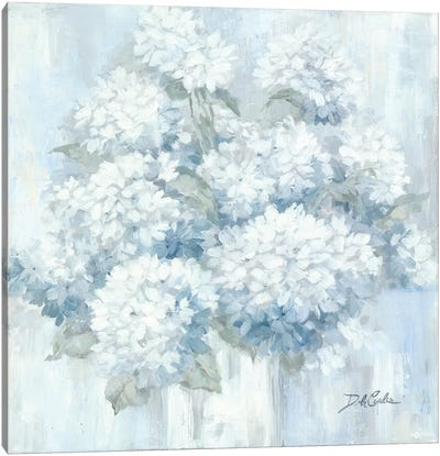 White Hydrangeas Canvas Art Print