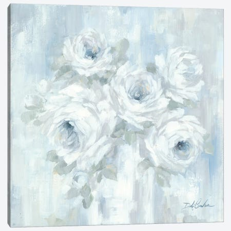 White Roses Canvas Print #DEB167} by Debi Coules Canvas Art