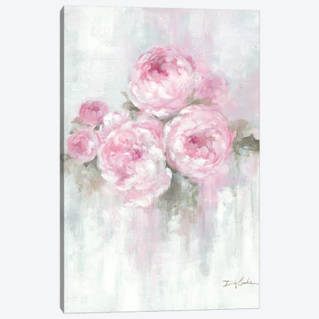 Pink Peonies Canvas Print #DEB168} by Debi Coules Canvas Art Print