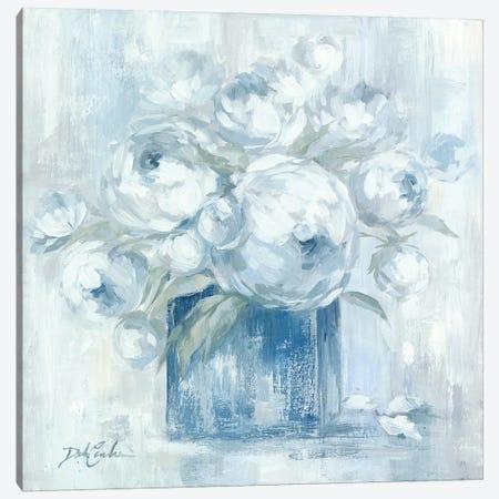 White Peonies Canvas Print #DEB169} by Debi Coules Art Print
