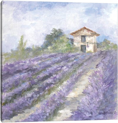 French Farmhouse Series: Lavender Fields Canvas Print #DEB16