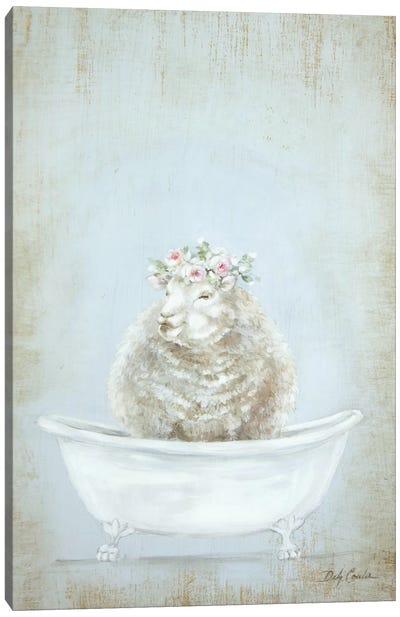 Sheep In A Tub Canvas Art Print
