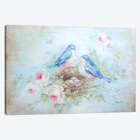 Bluebird Spring Canvas Print #DEB186} by Debi Coules Canvas Art