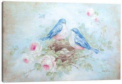 Bluebird Spring Canvas Art Print