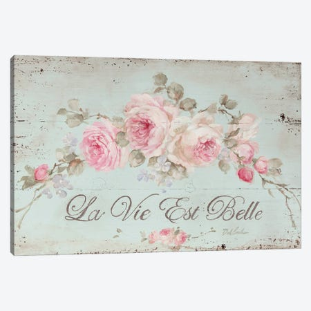 Life Is Beautiful Canvas Print #DEB23} by Debi Coules Canvas Art Print
