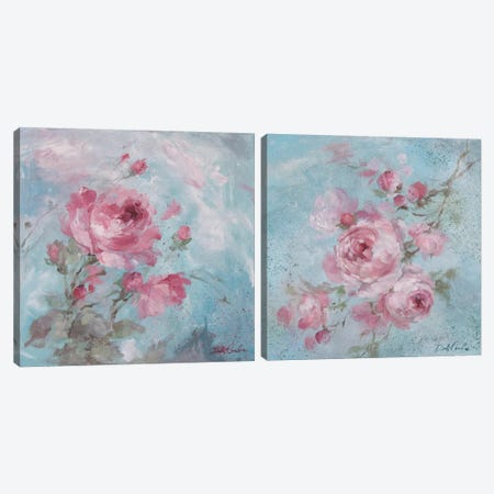 Winter Rose Diptych Canvas Print Set #DEB2HSET001} by Debi Coules Canvas Art Print