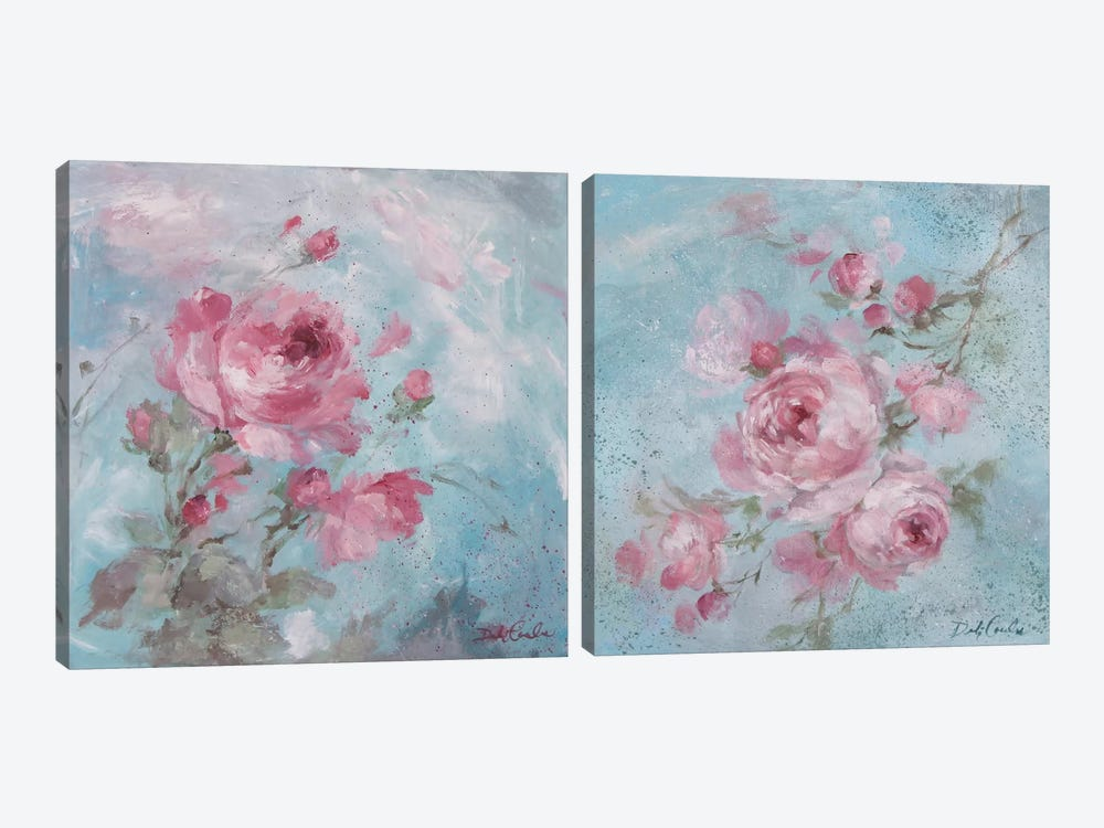 Winter Rose Diptych by Debi Coules 2-piece Canvas Art