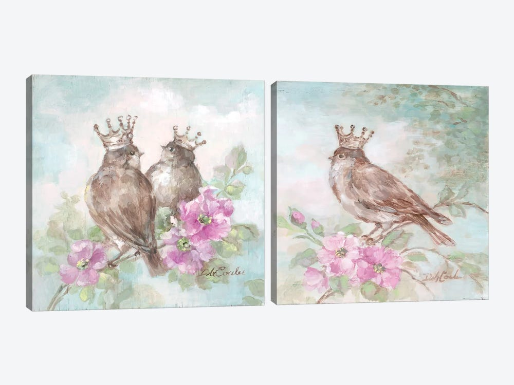 French Crown Diptych 2-piece Canvas Art Print