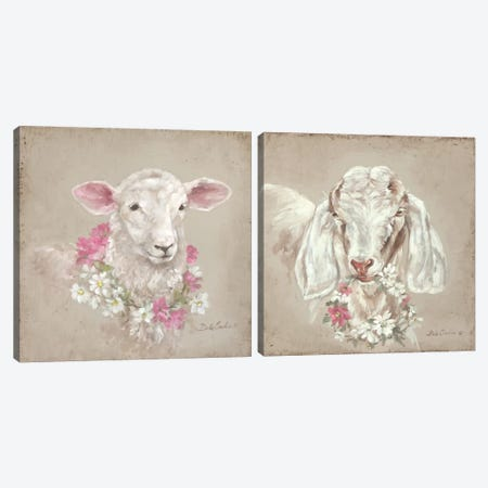French Farmhouse I Diptych Canvas Print Set #DEB2HSET003} by Debi Coules Art Print