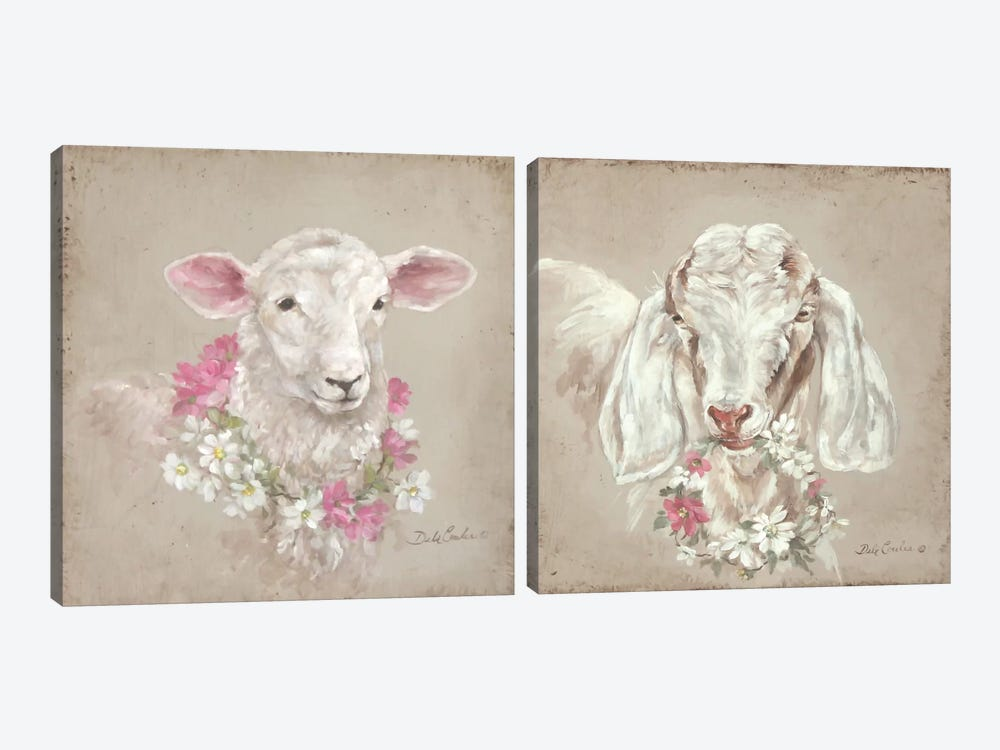 French Farmhouse I Diptych by Debi Coules 2-piece Canvas Artwork