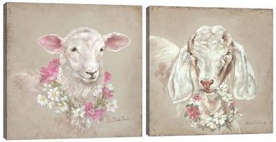 French Farmhouse I Diptych Canvas Art Print