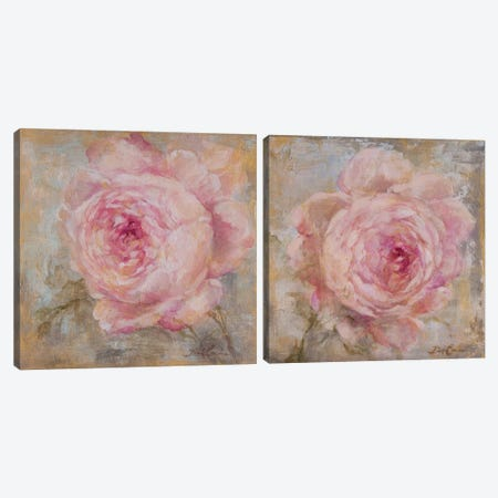 Rose Gold Diptych Canvas Print Set #DEB2HSET004} by Debi Coules Canvas Artwork