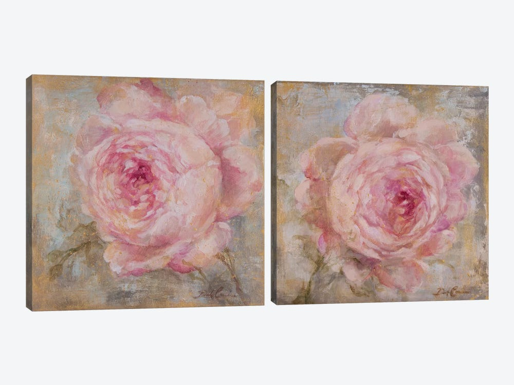 Rose Gold Diptych by Debi Coules 2-piece Art Print