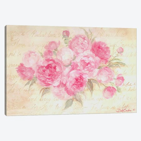 Peonies Passion Canvas Print #DEB32} by Debi Coules Canvas Art