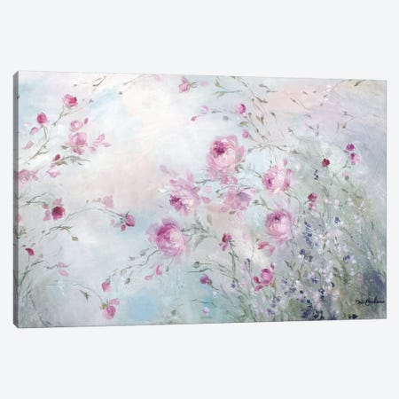 Rose Meadow Canvas Print #DEB38} by Debi Coules Canvas Artwork