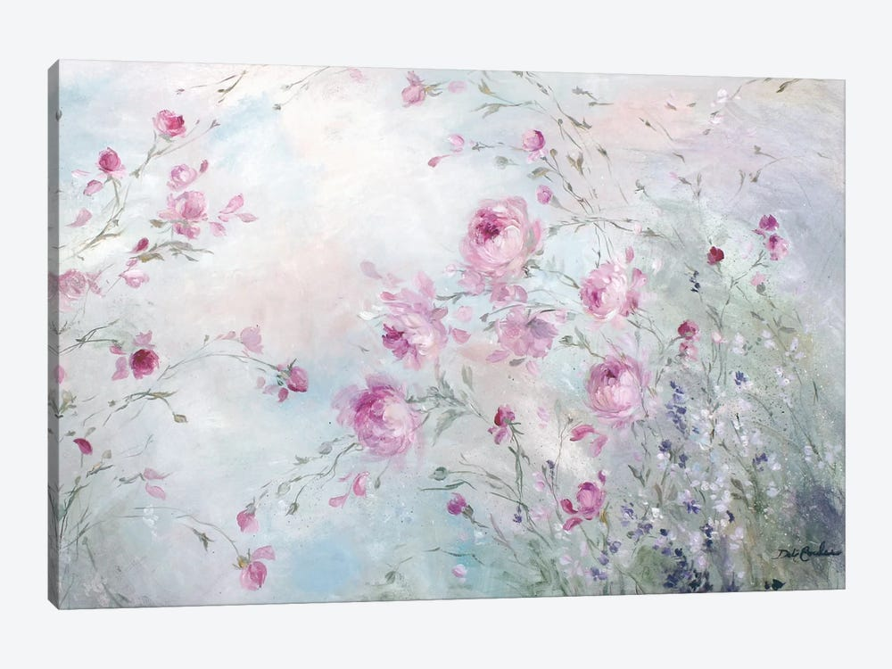 Rose Meadow 1-piece Canvas Art Print
