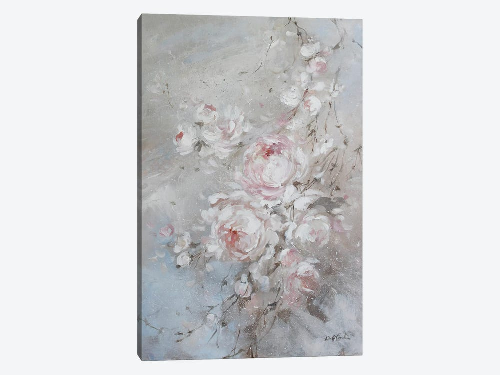 Blush Rose 1-piece Canvas Print