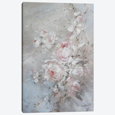 Blush Rose Canvas Print #DEB67} by Debi Coules Canvas Art