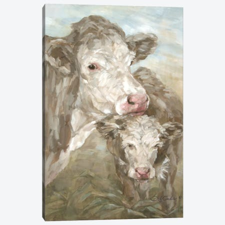 Moo Daze Canvas Print #DEB68} by Debi Coules Art Print