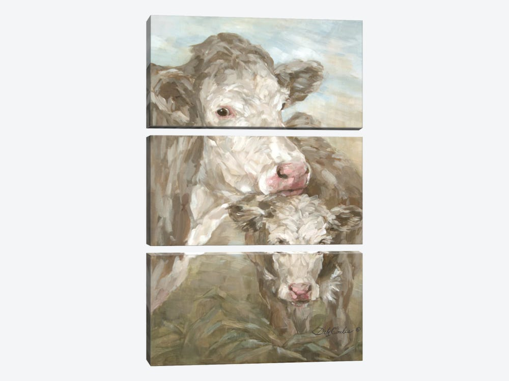 Moo Daze by Debi Coules 3-piece Canvas Artwork
