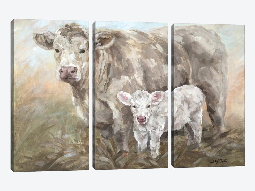 Sweet Pea by Debi Coules 3-piece Canvas Print