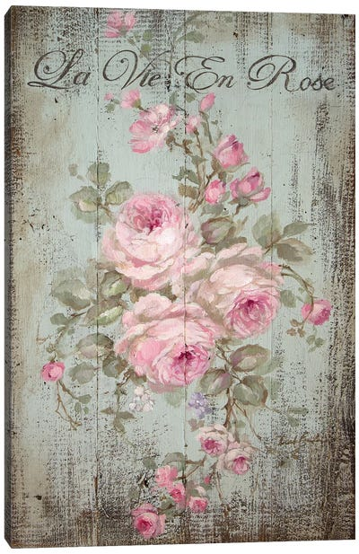 La Vie En Rose Canvas Print #DEB76