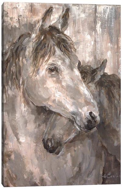 Tender Farmhouse Horse Canvas Print #DEB81