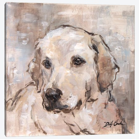 Lovely Lab Canvas Print #DEB89} by Debi Coules Art Print