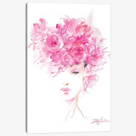 Lady In Pink Canvas Print #DEB92} by Debi Coules Canvas Artwork