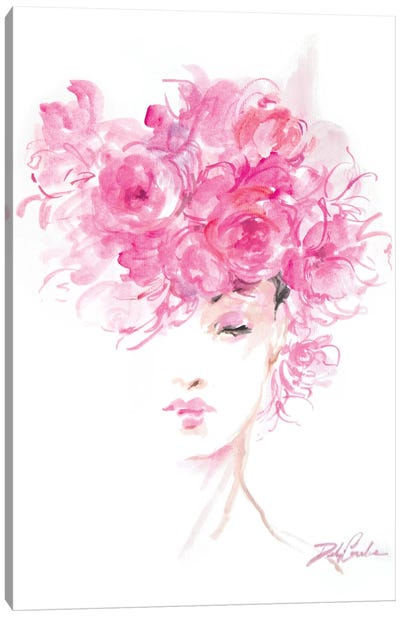 Lady In Pink Canvas Art Print