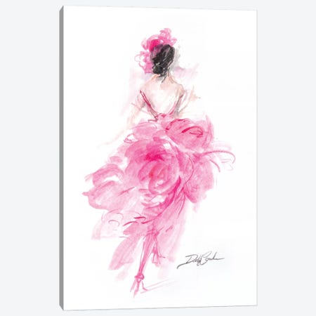 Parisian Pink  Canvas Print #DEB94} by Debi Coules Art Print