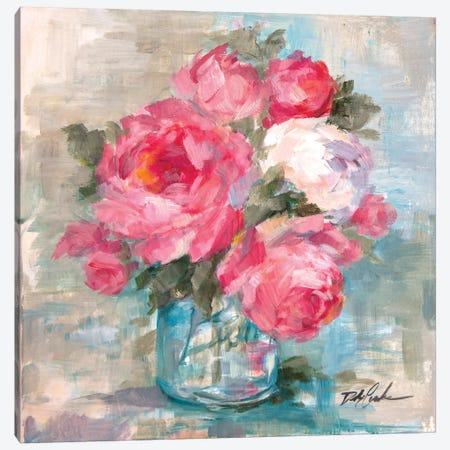 Summer Roses I Canvas Print #DEB96} by Debi Coules Art Print