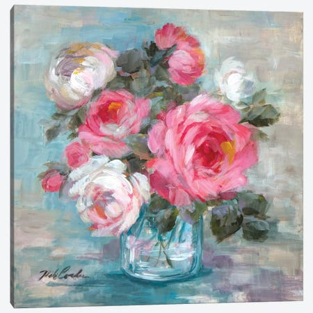Summer Roses II 3-Piece Canvas #DEB97} by Debi Coules Art Print