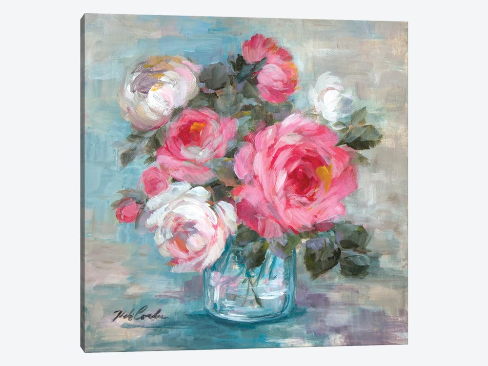 Summer Roses II by Debi Coules 1-piece Canvas Art