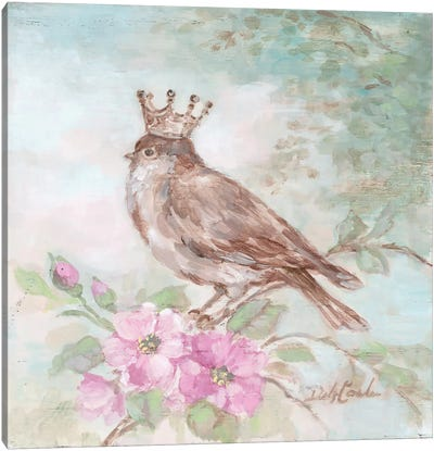 French Crown & Feathers I Canvas Art Print