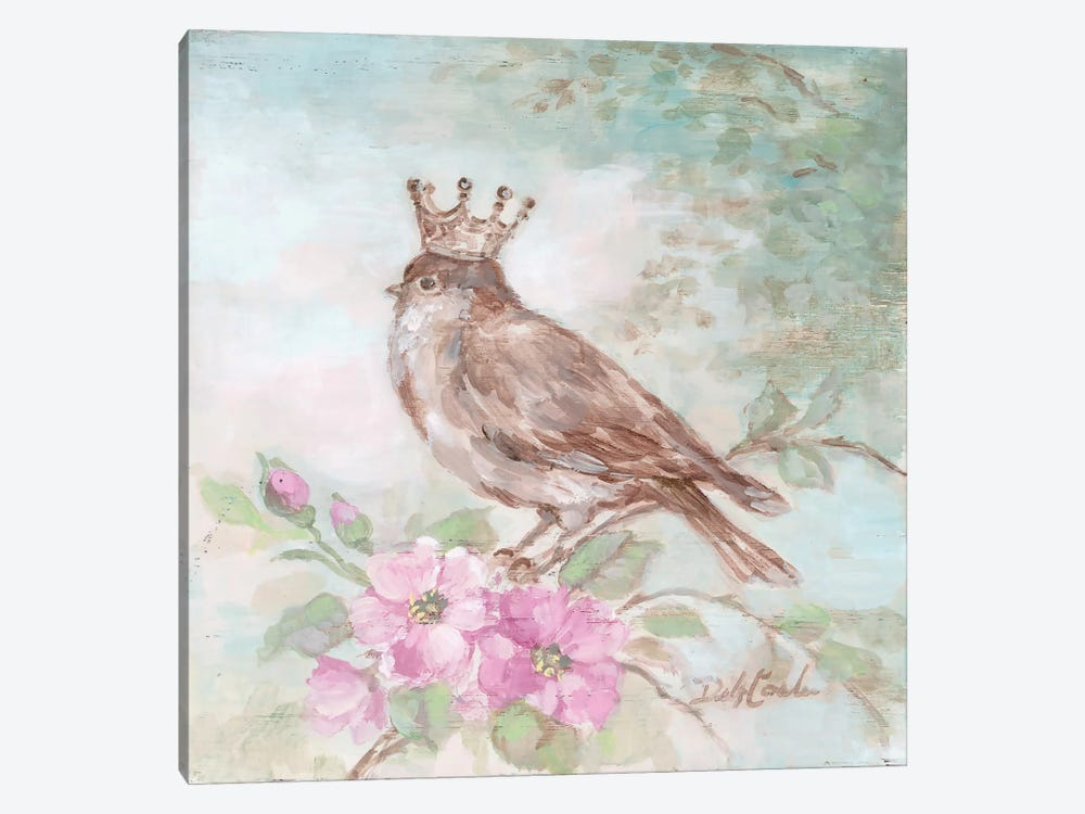 French Crown & Feathers I 1-piece Canvas Wall Art