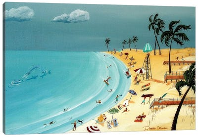 The Gulf Beaches In My Memories Canvas Art Print