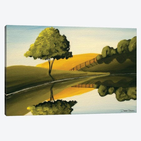 The Lakes Edge Canvas Print #DEC106} by Debbie Criswell Canvas Art Print